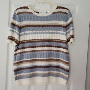 Alfred Dunner Short Sleeve Light Weight Sweater